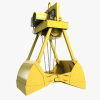 excavator grab 1 3d model