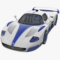 3d maserati mc12 3 rigged