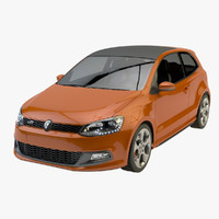 3d volkswagen polo gti model