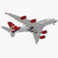 3dsmax airbus a380-800 virgin atlantic