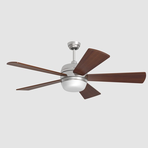 3d model ceiling fan lamp lights - Ceiling Fan... by razorwave