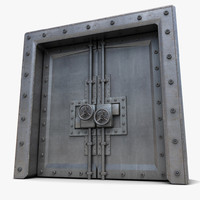 metal door 3d 3ds