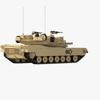 abrams low-poly tank 3d max
