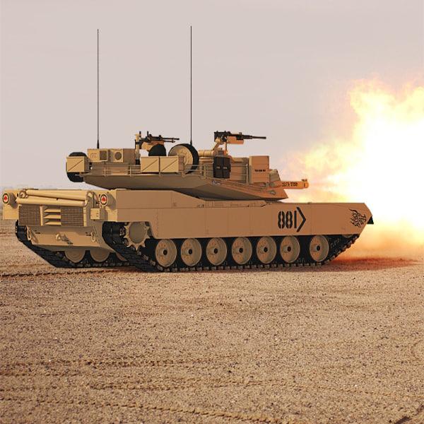 Abrams Tank Low-Poly
