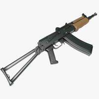 3d aks-74u carbine