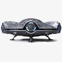 alien flying saucer 3d lwo