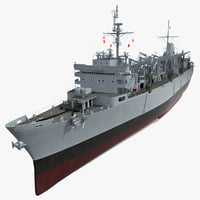 uss support ship sacramento 3d max