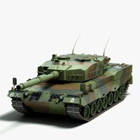 3ds max leopard 2 german tank