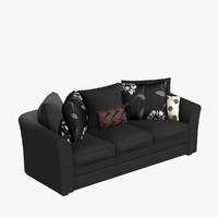3dsmax sofa pillows