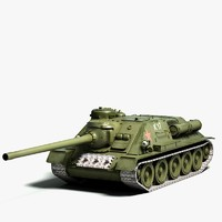 3d model soviet tank destroyer