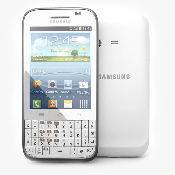 Samsung Galaxy Chat B5330 Android Smartphone White