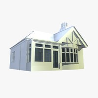 3d british detached houses unit model