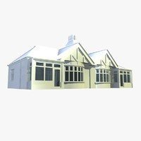 british semi detached houses 3d model