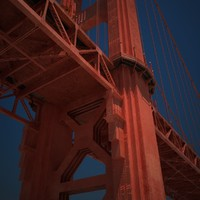 golden gate bridge architecture 3d model