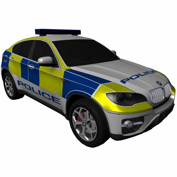 Bmw X6 Suv: Bmw X6 Police Suv 3d Model