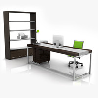 modern office set 01 3d model