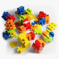 Jigsaw Puzzle Blocks