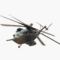 3d model ch-53e super stallion version