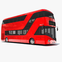 3d model new london double decker