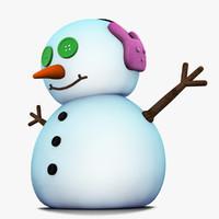 3d max snowman modelled