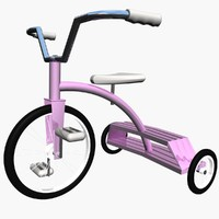 child s tricycle 3d model