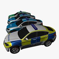 bmw x6 police suv 3d model