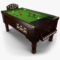 3ds max bar billiard table