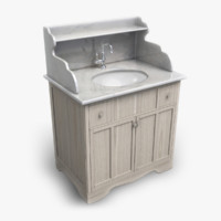 3d provencal marble washstand