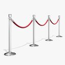 crowd barrier 3D models