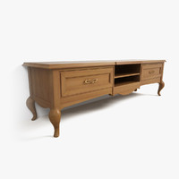wood tv stand giorgio 3d model