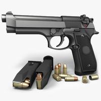 beretta pistols 92fs 3d max