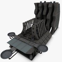 3d futuristic science fiction building model