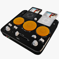 3d model ispin dj mixer ipod