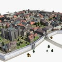 medieval town 3D models