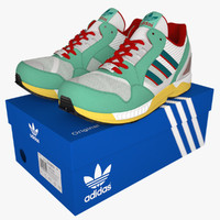 3d shoes adidas zx9000 model