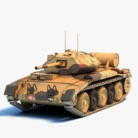 3d 3ds crusader tanks