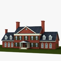3d classic georgian model