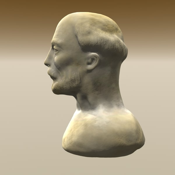 bearded man bust 3d model - Bearded Man Bust... by yaschan