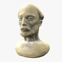 bearded man bust 3d model