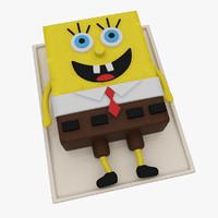 3d spongebob cake model
