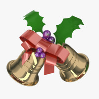 christmas bell 3d 3ds