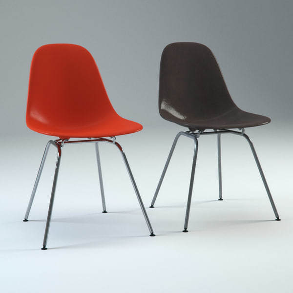 3d charles eames plastic chair model for Icon mobel eames
