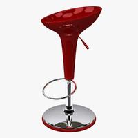 3d bar stool 001 model
