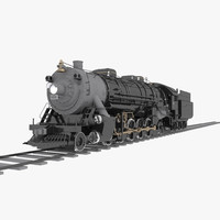 4-8-2 frisco mountain type 3d model