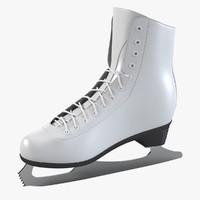 3d model white skates