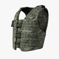 3d model easy bullet-proof vest