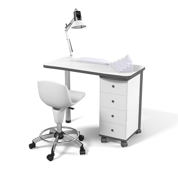 Artechno 204 l manicure max for Nail technician table