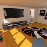 modern livingroom living room 3d c4d