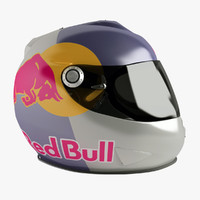 shark rsr2 helmet red-bull 3d 3ds
