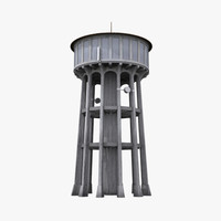 3d northcliff water tower model